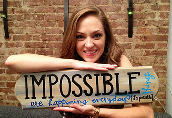 "Laura Osnes: ""Impossible things are happening every day."""