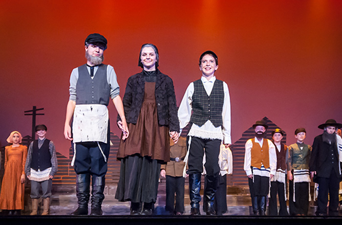 Tevya, Golde, and the Fiddler
