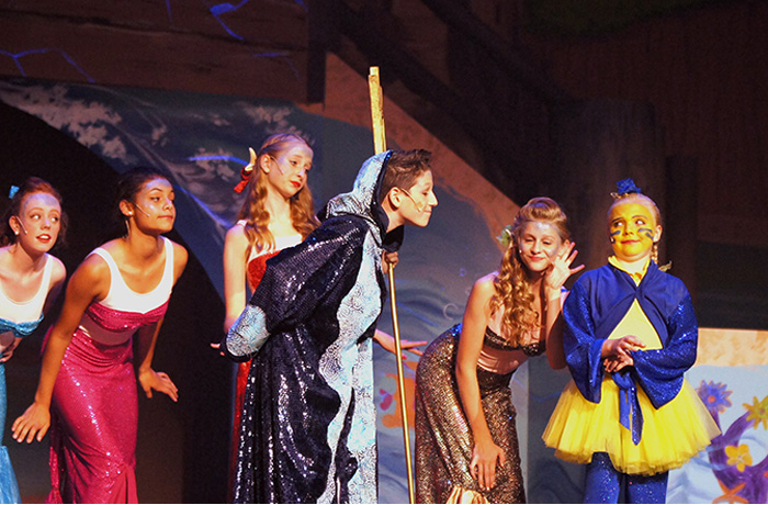 King Triton, Mer-Daughters and Flounder