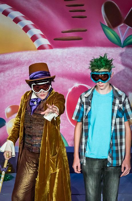 Willy Wonka and Mike TeaVee