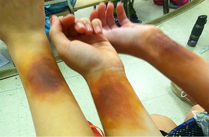 "Makeup ""bruises"" Tech Workshop"