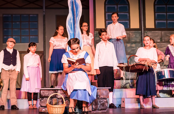 Belle Reading with Townfolk