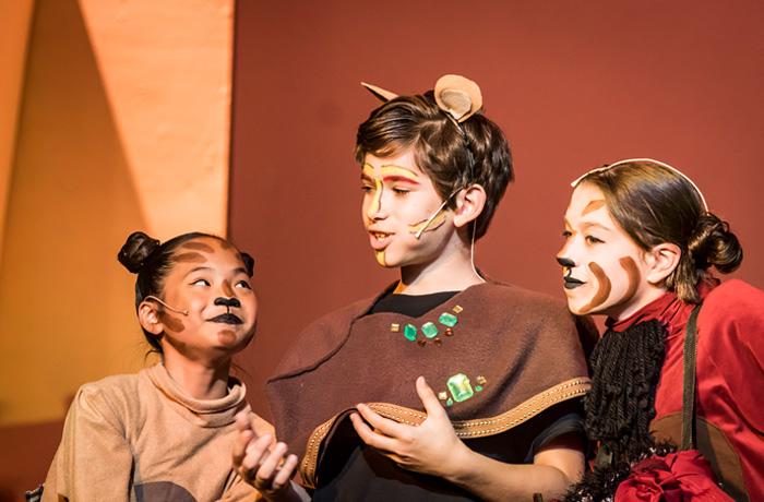 Timon, Simba and Pumbaa